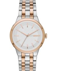 DKNY - Ny2464 Park Slope Stainless Steel Watch - Lyst