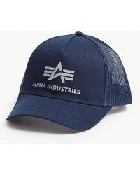 Alpha Industries - Logo Mesh Snapback Cap - Lyst