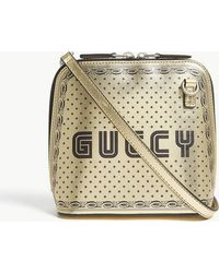 Gucci - Ladies Gold Guccy Leather Cross-body Bag - Lyst