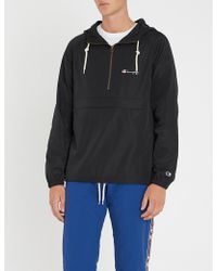 Champion - Logo-embroidered Cotton-jersey Hoody - Lyst