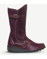 Fly London - Mes Buckle-embellished Leather Boots - Lyst