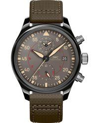 Iwc - Iw389002 Pilot Top Gun Ceramic Watch - Lyst