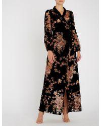 Myla - Kensington Gardens Silk-velvet Robe - Lyst