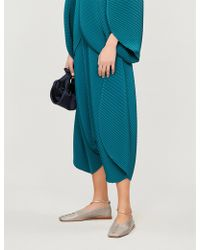 Issey Miyake - Bloom Cropped Oversized High-rise Pleated Trousers - Lyst