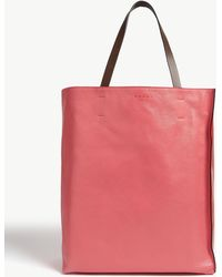 Marni - Museo Large Leather Tote - Lyst