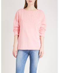 SJYP - Logo-embroidered Cotton-jersey Jumper - Lyst