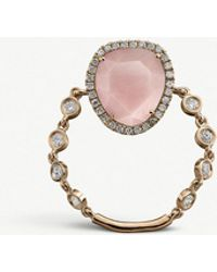 The Alkemistry - Meira T 14ct Rose Gold And Diamond Ring - Lyst