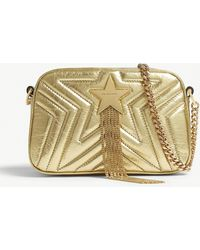 Stella McCartney - Gold Star Quilted Mini Cross Body Bag - Lyst