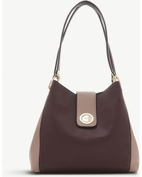 Dune - Berry Red Deannee Faux Leather Hobo Bag - Lyst