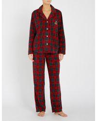 Ralph Lauren - Holiday Checked Fleece Pyjama Set - Lyst