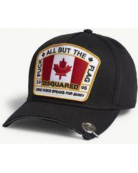 DSquared² - Flag Patch Cotton Strapback Cap - Lyst