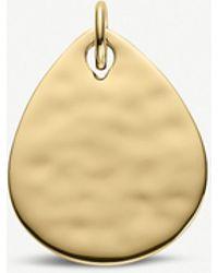 Monica Vinader - Ziggy Petal 18ct Yellow-gold Vermeil Pendant - Lyst