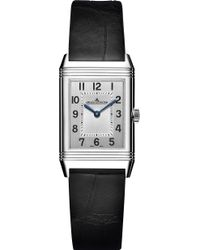 Jaeger-lecoultre - Reverso Stainless Steel And Alligator Leather Watch - Lyst