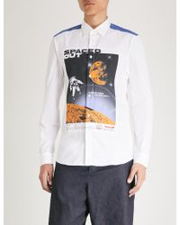 KENZO - Spaced Out Printed Slim-fit Cotton-poplin Shirt - Lyst