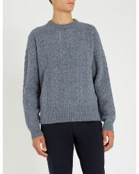 Tiger Of Sweden - Nilsen Cable-knit Wool Jumper - Lyst