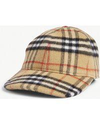 Burberry - Check Wool Cap - Lyst