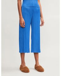Pleats Please Issey Miyake - Month Wide-leg Pleated Trousers - Lyst