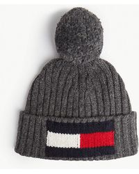 Tommy Hilfiger - Big Flag Knitted Wool And Cotton Beanie - Lyst