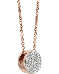 Monica Vinader - Ava 18ct Rose Gold-plated Necklace - Lyst