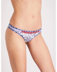 Tigerlily - Vishuddha Printed Bikini Bottoms - Lyst