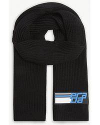Prada - Cable Rib-knit Wool Scarf - Lyst