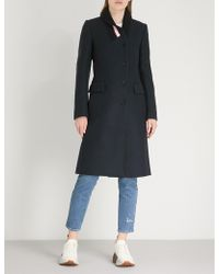 Stella McCartney - Ribbed-collar Wool Coat - Lyst