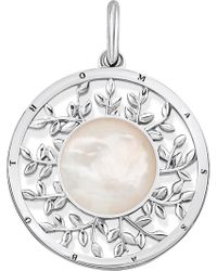 Thomas Sabo - Tree Of Life Sterling Silver And Mother-of-pearl Pendant - Lyst