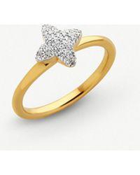 Links of London - Splendour 18ct Yellow-gold Diamond Four-point Star Ring - Lyst