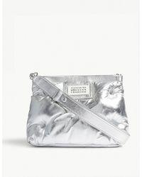 Maison Margiela - Silver Glam Slam Small Leather Pillow Bag - Lyst
