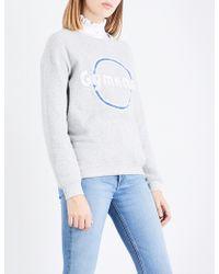 Claudie Pierlot - Gymnase-print Jersey Sweatshirt - Lyst