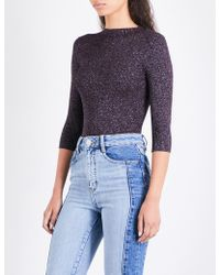 Maje | Mio High-neck Knitted Jumper | Lyst