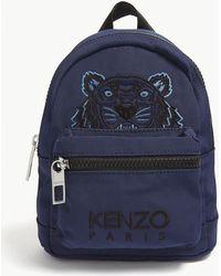 20347aea75 Lyst - KENZO Kanvas Tiger Medium Backpack Navy Blue in Blue