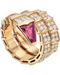 BVLGARI - Serpenti Double-coil 18kt Pink-gold - Lyst