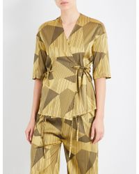 Aimee Kestenberg - Striped Jacquard Silk-blend Pyjama Shirt - Lyst