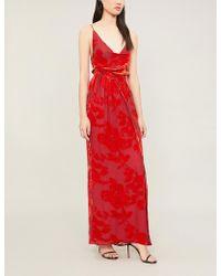 Galvan London - Rose Velvet Slip Dress - Lyst