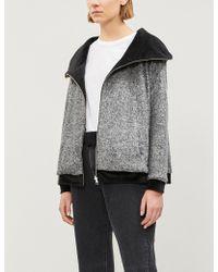 The Kooples - Fleece And Velvet Reversible Hoody - Lyst