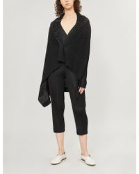 Pleats Please Issey Miyake - V-neck Pleated Jacket - Lyst