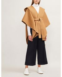 Theory - Hooded Wool-cashmere Poncho - Lyst