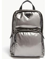 Prada - Leather Technical Backpack - Lyst