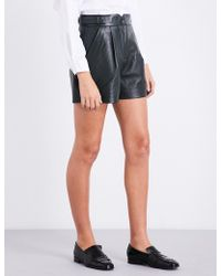Claudie Pierlot | High-waisted Leather Shorts | Lyst