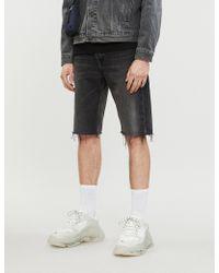Balenciaga - Cut-off Denim Shorts - Lyst