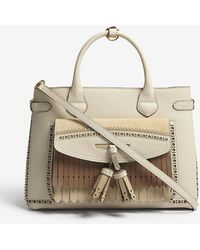 Burberry - Banner Medium Fringed Leather Tote - Lyst