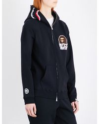A Bathing Ape - Betty Shark Head Cotton-jersey Hoody - Lyst