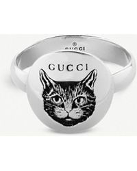 7b4b05d63d6cac Lyst - Gucci Gatto Sterling Silver Ring in Metallic