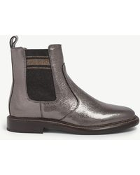 Brunello Cucinelli - Broken Glass Leather Chelsea Boots - Lyst