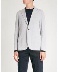 Eleventy - Regular-fit Textured Cotton-blend Jacket - Lyst