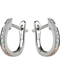 Annoushka - Eclipse 18ct White Gold And Diamond Hoop Earrings - Lyst