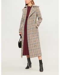 Emilia Wickstead - Elvira Checked Woven Coat - Lyst