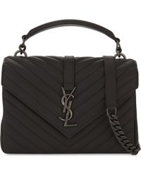 Saint Laurent - Monogram Collége Small Quilted Leather Shoulder Bag - Lyst
