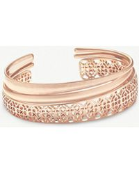 Kendra Scott - Tiana Filigree 14ct Rose Gold-plated Bracelet - Lyst